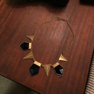 Art Deco style & retro black/gold necklace